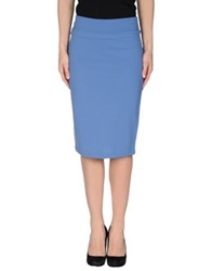Siste's Siste' S Knee Length Skirts Pastel Blue