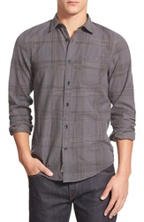 1901 'Greenwood' Trim Fit Plaid Sport Shirt Black Caviar