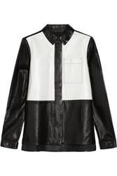Proenza Schouler Perforated Paneled Leather Jacket White