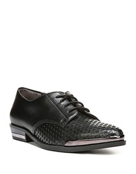 Fergie Invert Leather Oxfords Black