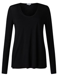 Jigsaw Double Layer Long Sleeve T Shirt Black