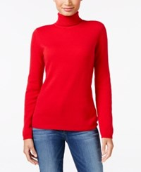Charter Club Cashmere Turtleneck Sweater Only At Macy's 16 Colors Available New Red Amore