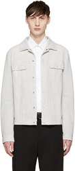 Jil Sander Off White Suede Jacket
