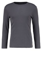 Tom Tailor Fitted Long Sleeved Top Tarmac Grey Anthracite