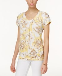 Jm Collection Printed Banded Hem Top Only At Macy's Peach