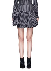 Monse Pinstripe Silk Twill Bubble Skirt Multi Colour
