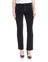 Nydj Petite Marilyn Straight Leg Corduroy Pants Black
