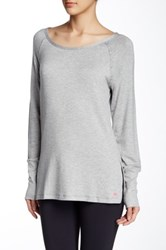 Pink Lotus Cut It Pullover Gray