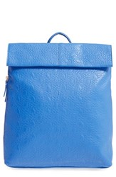 Poverty Flats By Rian Faux Leather Convertible Backpack Blue