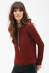 Forever 21 Open Knit Crew Neck Sweater