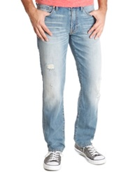 Lucky Brand Distressed Straight Fit Jeans