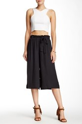 Lily White Paperbag Gaucho Pant Black