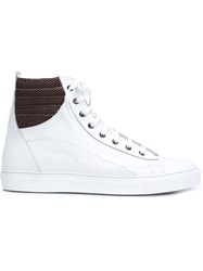Raf Simons Hi Top Sneakers White