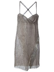 Romeo Gigli Vintage Crisscross Back Dress Grey