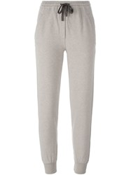Eleventy Glitter Stripe Track Pants Nude And Neutrals