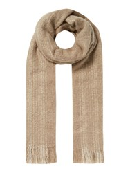 Label Lab Textured Stripe Scarf Natural