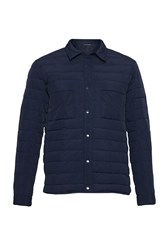 French Connection Men's Geyser Quilted Jacket Blue