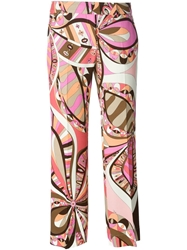 Emilio Pucci Cropped Printed Trousers Pink And Purple