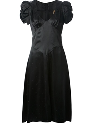 Biba Vintage Ruched Sleeve Dress Black