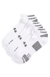 Men's Under Armour Heatgear 'Trainer' No Show Socks White 3 Pack