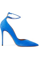 Aquazzura Allure Suede Pumps Cobalt Blue