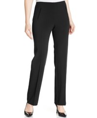 Styleandco. Style Co. Petite Straight Leg Tummy Control Pants Deep Black
