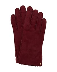 Ted Baker Cotette Suede Shearling Gloves Red
