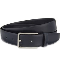 Sandro Thin Leather Belt Navy Blue