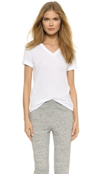 Alexander Wang Superfine V Neck Tee White