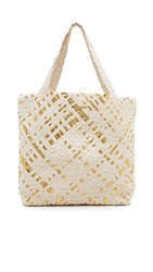 Monserat De Lucca Dupri Vega Medium Tote Gold Cream