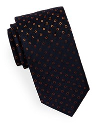 Hugo Dotted Silk Tie Orange