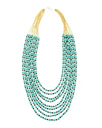 Panacea Turquoise And Crystal Multi Strand Necklace