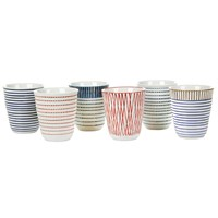 Pols Potten Block Stripe Cups Set Of 6