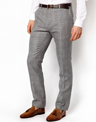 Peter Werth Suit Pant In Pow Check Grey