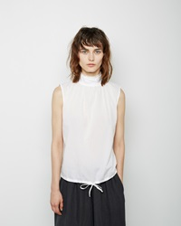 Chimala Stand Collar Top White