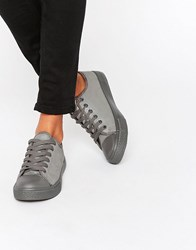 Blink Lace Up Lowtop Trainer Pewter Silver