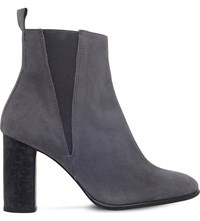 Carvela Spectre Suede Heeled Ankle Boots Grey