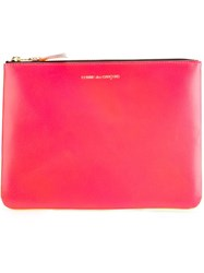 Comme Des Garcons Zipped Clutch Pink And Purple