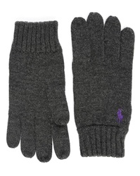 Polo Ralph Lauren Charcoal Merino Wool Gloves