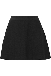 Elizabeth And James Alanis Textured Boucle Tweed Mini Skirt Black