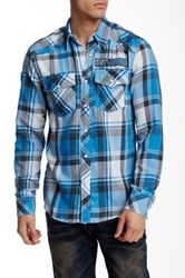 Affliction Just Right Plaid Long Sleeve Slim Fit Shirt Multi