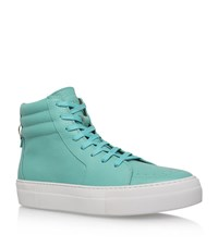 Buscemi 140Mm High Top Sneakers Male Turquoise