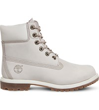 Timberland 6 Inch Leather Boots Winter White Nubuck