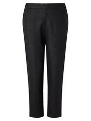 East Lifestyle Linen Capri Trousers Black