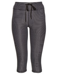 The Upside The Lauren Striped Performace Leggings Black Multi