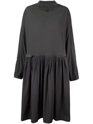 Rundholz Oversized Pleated Dress Green