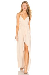 Misa Los Angeles Ever Maxi Dress Tan