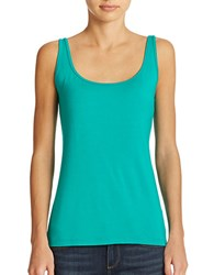 Lord And Taylor Petite Iconic Fit Slimming Scoopneck Tank Dynasty Green