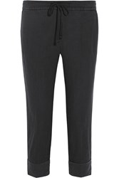 James Perse Linen Tapered Pants Anthracite