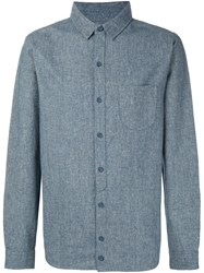 Max 'N Chester Front Pocket Woven Shirt Blue